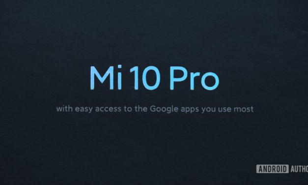 ¿Qué sucede con la redacción de las aplicaciones de Google en el cuadro Mi 10 Pro?