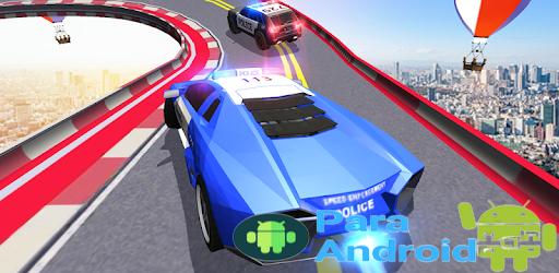 Police Mega Ramp Car Simulator Cops Racing Stunts