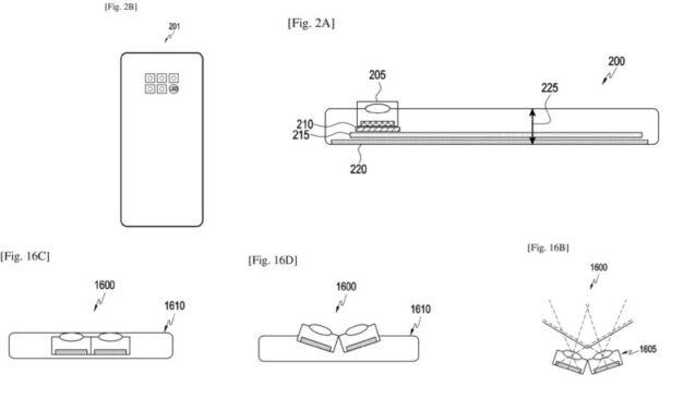 Samsung probablemente funciona en cámaras inclinables para teléfonos