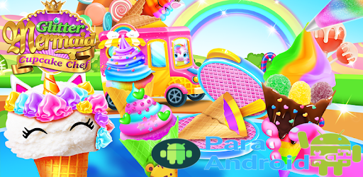 Mermaid Glitter Cupcake Chef – Ice Cream Cone Game