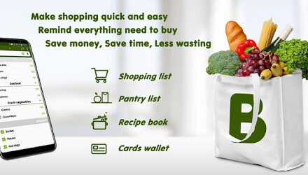 Grocery list, card coupon wallet: BigBag Pro