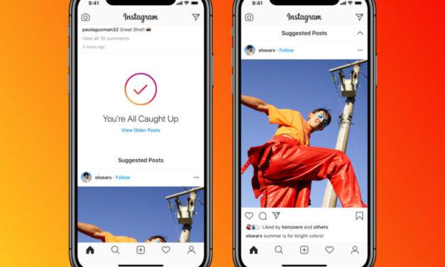 Instagram mostrará publicaciones de extraños al final de tu feed