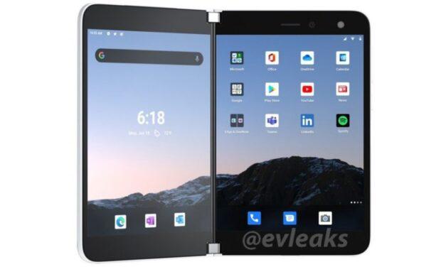 Las representaciones de Surface Duo filtradas muestran aplicaciones de Microsoft y Google precargadas