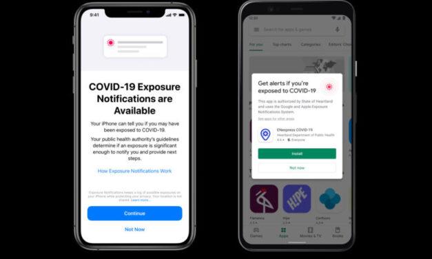 Apple y Google hacen que las notificaciones de exposición al COVID-19 estén disponibles sin una aplicación