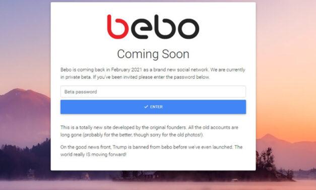 El sitio de redes sociales de Bebo regresa de nuevo