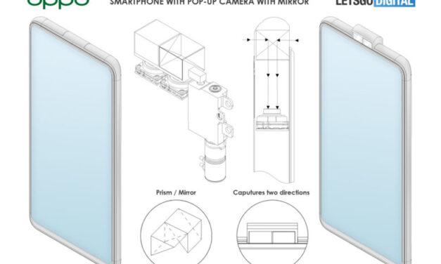 La patente de Oppo revela cámaras orientadas hacia arriba con prismas