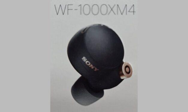 Sony WF-1000XM4 se filtra, mostrando un diseño completamente nuevo