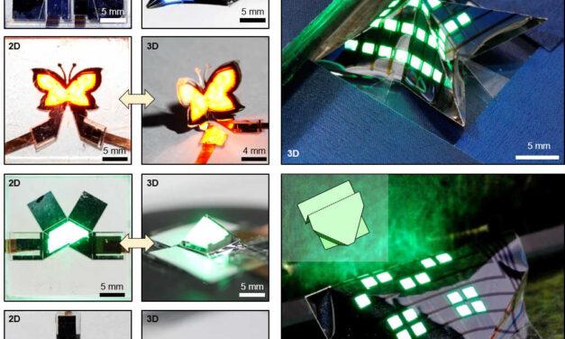 Este soporte de pantalla plegable 3D se puede plegar como un origami